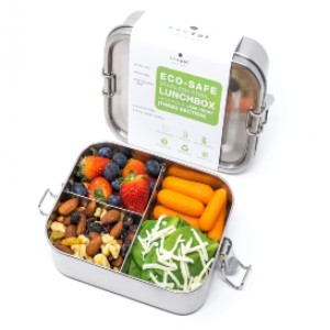 Ecozoi STAINLESS STEEL ECO LUNCH BOX - Best Lunch Boxes for Women: Eco-Friendly Multi-Compartment Lunch Box