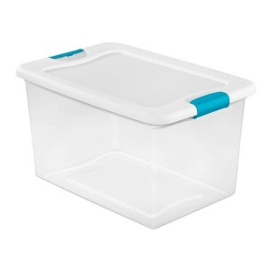 Sterilite 64 Quart Latching Plastic Storage Box - Best Storage Containers for Moving: Find your items easily
