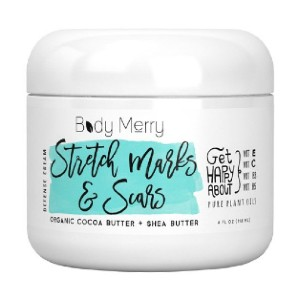 Body Merry STRETCH MARKS & SCARS DEFENSE CREAM - Best Stretch Mark Cream for Breasts: Increase Your Skins Elasticity