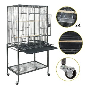 Super Deal 53''/59.3''/63.5'' Rolling Bird Cage - Best Bird Cage for Canary: Easy-glide casters
