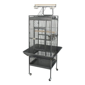 Super Deal PRO 61'' 2in1 Large Bird Cage - Best Bird Cage for Lovebirds: Versatile play area