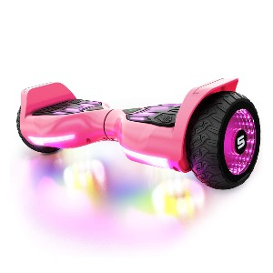 Swagtron T580 App-Enabled Bluetooth Hoverboard  - Best Hoverboard with Bluetooth: Sound responsive lighting