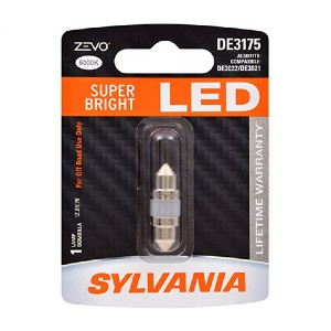 SYLVANIA ZEVO DE3175 - Best LED License Plate Bulbs: It fits most of license plate holders