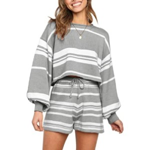 SYZRI Women's 2 Piece Knit Outfits - Best Loungewear for Petites: Oversized without looking baggy