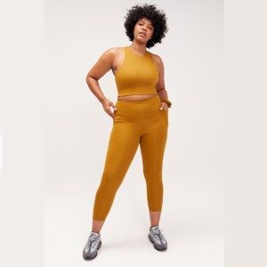 Girlfriend Saddle High-Rise Pocket Legging - Best Activewear for Women: Eco-friendly in style