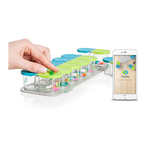 Sagely SMART Weekly Pill Organizer - Best Pill Boxes with Alarm: Aesthetically Design