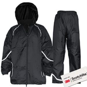 Salzmann Waterproof Rainsuit With 3M Scotchlite Reflective Material - Best Raincoats for Fishing: 3M Scotchlite Raincoat