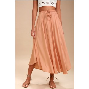 O'Neill Samoa Blush Midi Skirt - Best Skirts for Pear Shape: Machine Wash Cold
