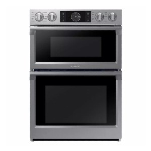 Samsung 30 in. Electric Steam Cook Flex Duo Wall Oven - Best Wall Oven with Microwave: Two small ovens, or one big oven