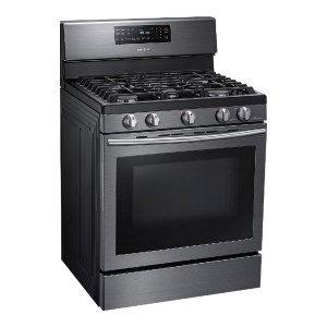 Samsung 5.8 Cu. Ft. Fingerprint Resistant Gas Convection Range - Best Gas Ranges for the Money: Great looks, high performance