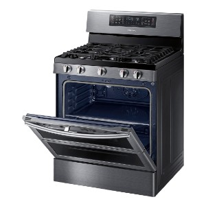 Samsung Flex Duo™ 5.8 Cu. Ft. Gas Convection Range - Best Gas Ranges for Home: One or two ovens? You decide!