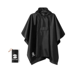 SaphiRose Hooded Rain Poncho  - Best Raincoats Under $100: The 3 in 1 style