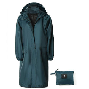 SaphiRose Long Outdoor Rain Jacket - Best Raincoats for Hot Weather: Easy put on and off long rain jacket
