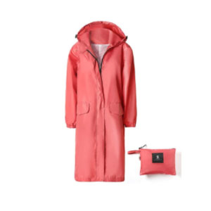 SaphiRose Women's Waterproof Raincoat Long  - Best Raincoats for Women: Long Sleeve with Button