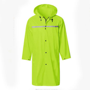 SaphiRose Mens Long Hooded Safety Rain  - Best Raincoats for College Students: Shine Bright Jacket