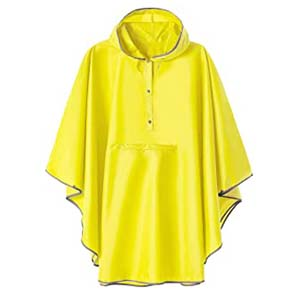 SaphiRose Hooded Rain Poncho Waterproof Raincoat - Best Raincoats for Summer: Simple at its finest