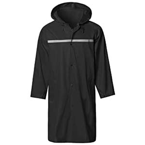 SaphiRose Mens Long Hooded Safety Rain Jacket - Best Raincoats for Disney: Looks great, works great
