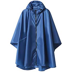 SaphiRose Rain Poncho for Adults - Best Raincoats for Hiking: Available in 41 choices of plain and adorable patterned colors!