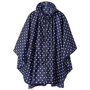 SaphiRose Rain Poncho Jacket Coat for Adults - Best Raincoats for Cycling: Windproof with cute patterns