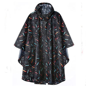 SaphiRose Jacket Coat Hooded for Adults with Pockets - Best Raincoats for Festivals: Raincoat with Useful Pockets