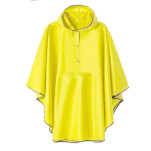 SaphiRose Summer Mae Rain Poncho Jacket - Best Raincoats for Women: Big Hooded Cap for Warm Head