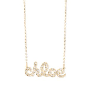 Sarah Chloe Ava Petite Diamond Name Pendant Necklace - Best Nameplate Necklace: Nameplate Cable Chain
