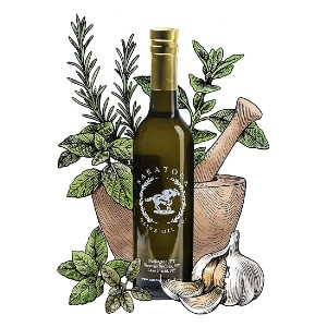 Saratoga Olive Oil Company Tuscan Herb - Best Olive Oil for Dipping Bread: Olive Oil Blends with Herb Ingredients