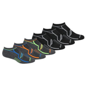 Saucony Bolt Performance Comfort Fit No-Show Socks - Best Socks for Men: Ankle Support for Greater Comfort