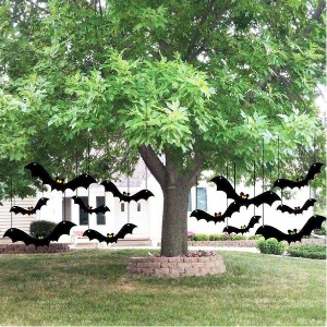 Victory Store Scary Hanging Bats - Best Halloween Decorations Outdoor: Easy to hang