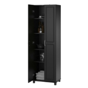 Red Barrel Studio® Scholl Storage Cabinet - Best Wardrobe for Small Bedroom: Features A Clean-Lined Frame