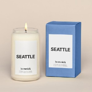 Homesick Seattle Candle - Best Coffee Scented Candles: Coffee Scent for Calm Mood