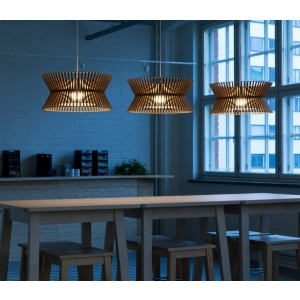 Secto Design Kontro 6000 pendant - Best Ceiling Light for Kitchen: Wooden Shade Ceiling Lamp