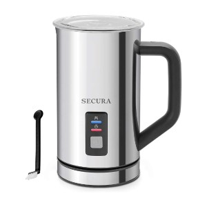 Secura Automatic Electric Milk Frother and Warmer - Best Milk Frother for Oat Milk: High-Quality Frother for Hot and Cold Milk