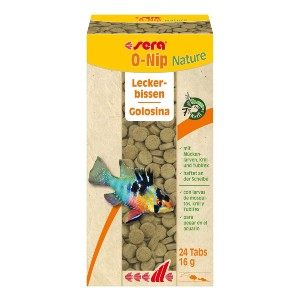 Sera O-Nip Nature Attaching Tablet Fish Food - Best Fish Food for Neon Tetras: Excellent Combination Food