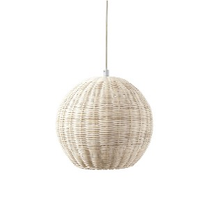 Serena & Lily Pacifica Outdoor Pendant - Best Outdoor Pendant Lights: Rattan Texture Pendant Light