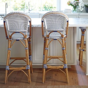Serena & Lily Riviera Barstool - Best Bar Stools with Backs: Classic Bar Stool