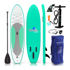 SereneLife Inflatable Stand Up Paddle Board - Best Paddle Boards Under $500: Safe Inflatable Paddle Board