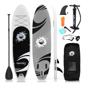 SereneLife Inflatable Stand Up Paddle Board  - Best Paddleboard for Surfing: Amazon best-seller