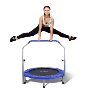 SereneLife Portable & Foldable Trampoline  - Best Home Trampoline for Adults: Safer jumping surface