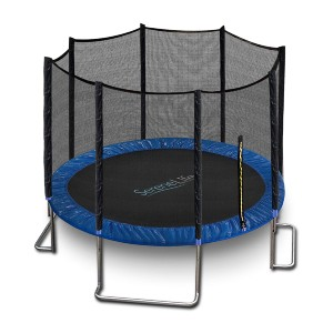 SereneLife Trampoline with Net Enclosure  - Best Trampoline Under $300: Hours of family fun