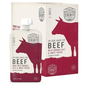 Serenity Kids Grass Fed Beef with Organic Kale and Sweet Potatoes - Best Organic Baby Foods: Perfect Savory Blends