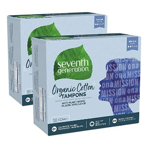 Seventh Generation Organic Cotton Tampons - Best Organic Tampons for Beginners: Safe, leak-free seal