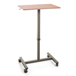 Seville Classics AIRLIFT Pneumatic Laptop Computer Mobile Desk Cart - Best Standing Desk for Small Spaces: Smooth Casters