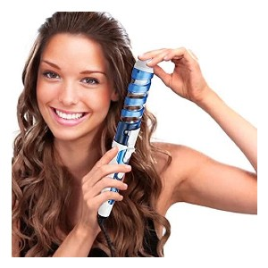SexyBeauty Ceramic Curling Iron - Best Curling Iron Automatic: Anti-Scald Spiral Case Feature