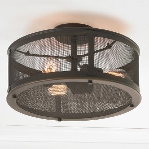 Shades of Light PRAIRIE SCREENED OUTDOOR CEILING LIGHT - Best Outdoor Lights for Coastal Areas: Rustic Touch Ceiling Light