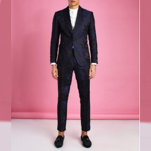 Boohoo Shawl Satin Collar Belted Suit Jacket - Best Party Dress for Man: Perfect formal attire