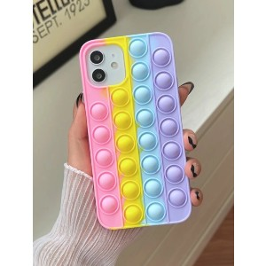 Shein Silicone Push Pop Bubble Fidget Phone Case - Best Phone Cases for iPhones: Stunning Colorblock Phone Case