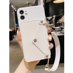 Shein Chain Strap Phone Case With Card Holder - Best Phone Cases Protection: Practical Phone Case