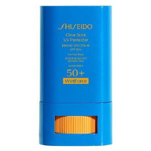 Shiseido Clear Stick UV Protector Broad Spectrum SPF 50+ - Best Sunscreen for Oily Face: On-The-Go Sunscreen Stick