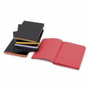 Shizen Faux Leather Journal - Best Sketchbook for Beginners: Black cover, colorful papers
